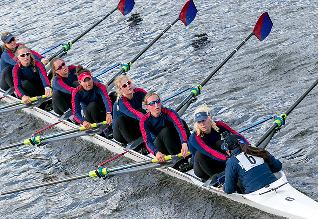 Alex+Oser+%2716+and+Jenna+Thompson+%2716+race+Oct.+17+at+the+51st+Head+of+the+Charles+Regatta+in+Boston.+Published+with+permission+of+Alex+Oser.