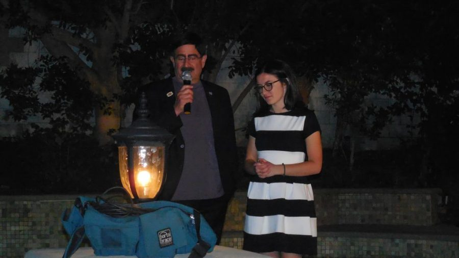 Emily Rahhal '17 stands with Shad Meeshad, the president and founder of the National Veterans Foundation. Rahhal organized a fundraiser for the foundation Nov. 17. Credit: Printed with permission of Emily Rahhal