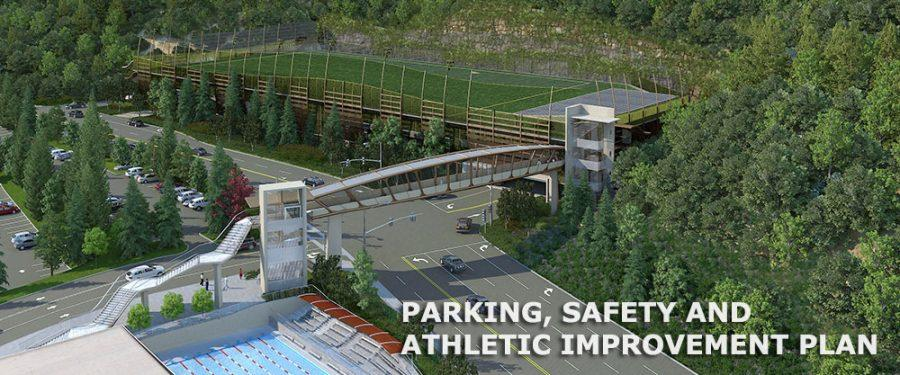 The PSA Improvement Project includes a new parking structure, bridge to cross Coldwater Canyon and practice field. The first public hearing to address the project will be held on July 24. Printed with permission of hw.com.