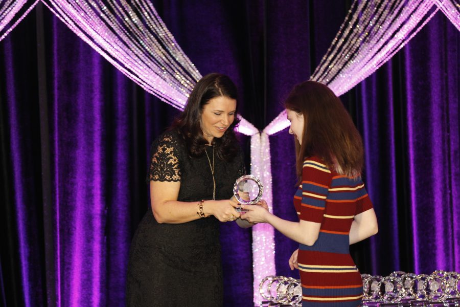 Ari Sokolov '19 wins a national award from the National Center for Women and Information Technology in North Carolina for her commitment to computer science.