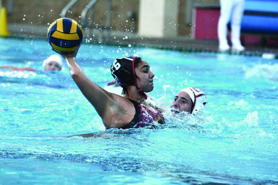 Taylor LaCour '19 passes the ball in a game against Bishop Alemany High School on Feb. 7 last season. Photo Credit: Ryan Albert/Chronicle
