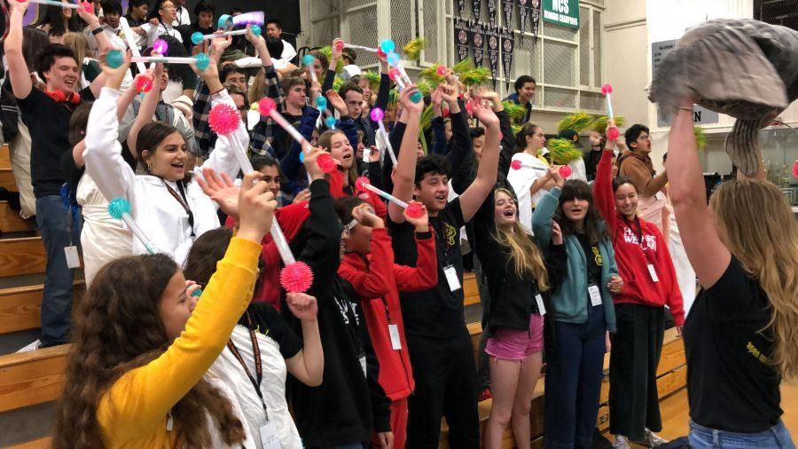 JCL and Latin students participate in the Spirit Competition at the CAJCL convention.  Credit: Mercedes Barletta