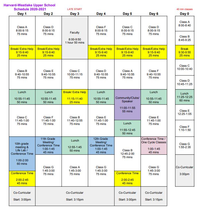 School to adopt new, rotating block schedule beginning in 2020