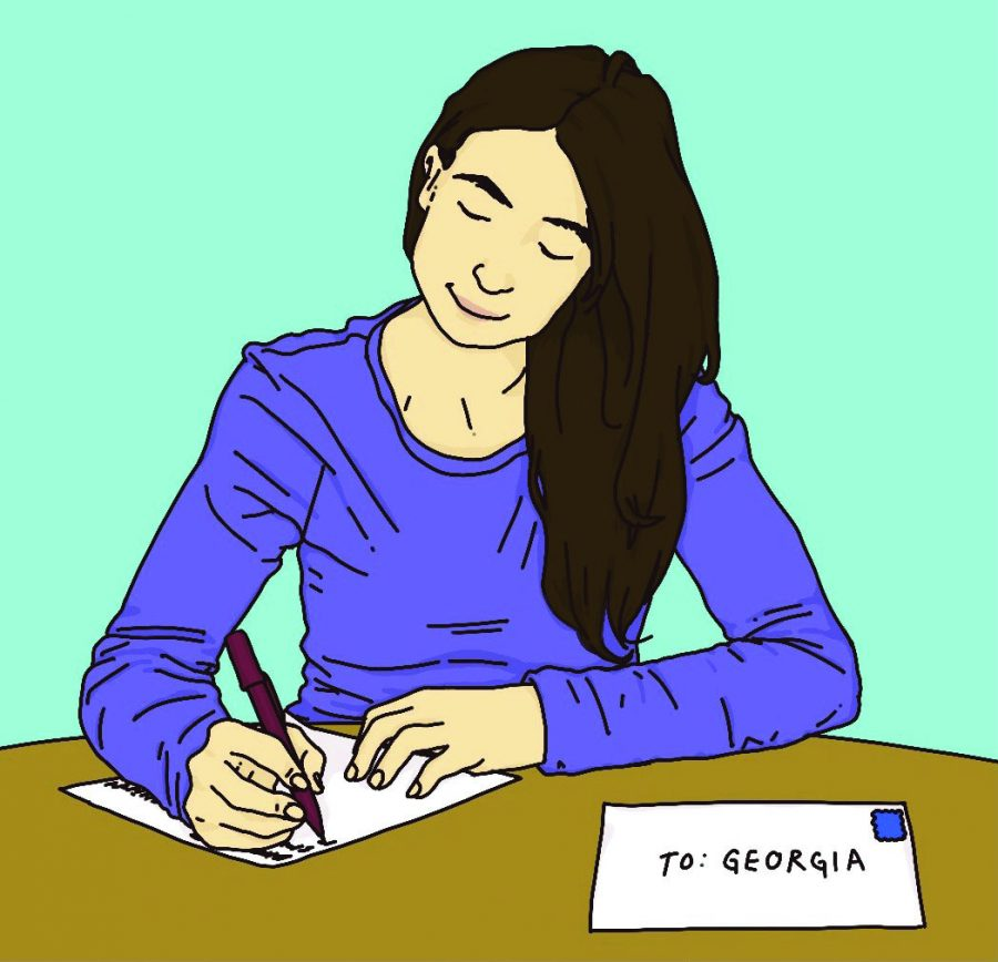 Students reached out to voters in Georgia encouraging them to vote in the upcoming Senate runoff elections Jan 5. Illustration credit: Sophia Evans