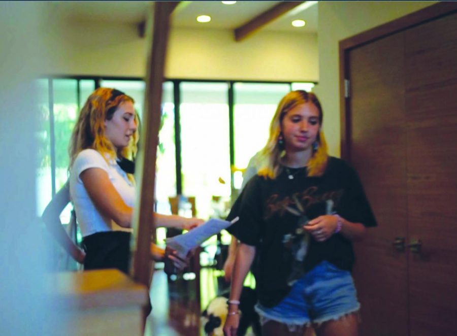 With the help of her friends and artistic colleagues, Sasha Vogel '21 energetically runs through the script of her short film