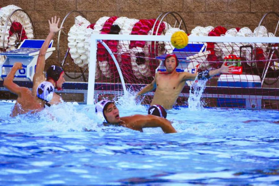 Goalie Sam Krutonog 18 focuses on the ball. Photo by Connor Reese/Chronicle