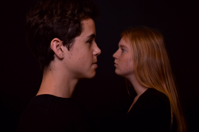 TWO FACED: Max Hernand '18 and Kate Von Mende '18  face each other in a photograph submitted by Arianna Shooshani '18 to the YoungArts contest. Printed with permission of Arianna Shooshani '18