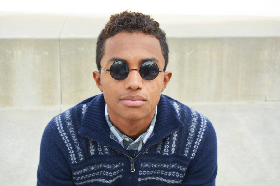 Andres Walker'18 shows his individuality through his sense of humor and style.   Credit: Nicole Kim/Chronicle