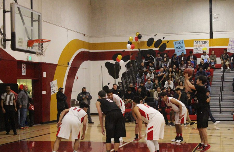 Wolfgang Novogratz 16 shoots a free throw during the third quarter of the game. Credit: Bennett Gross 16/Chronicle