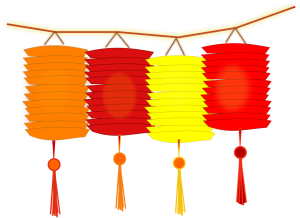 Common Chinese New Year lanterns. Creative commons licensed image.
