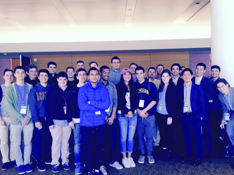 Senior attendees of the MIT Sloan Sports Analytics Conference travelled to Boston March 11 and 12 to learn about sports stats/ Printed with permission of William Thill