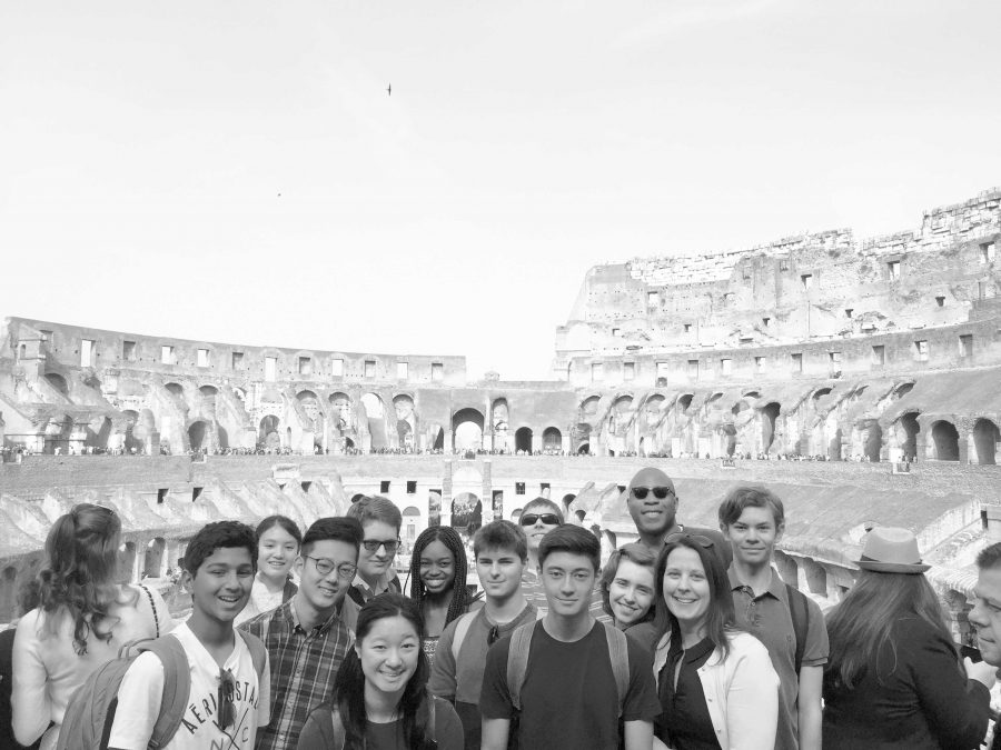 Latin students traveled to various scenic spots in Rome such as The Coliseum. While on the trip, students learned about the history and culture of Ancient Rome.  Printed with permission of Mercedes Barletta