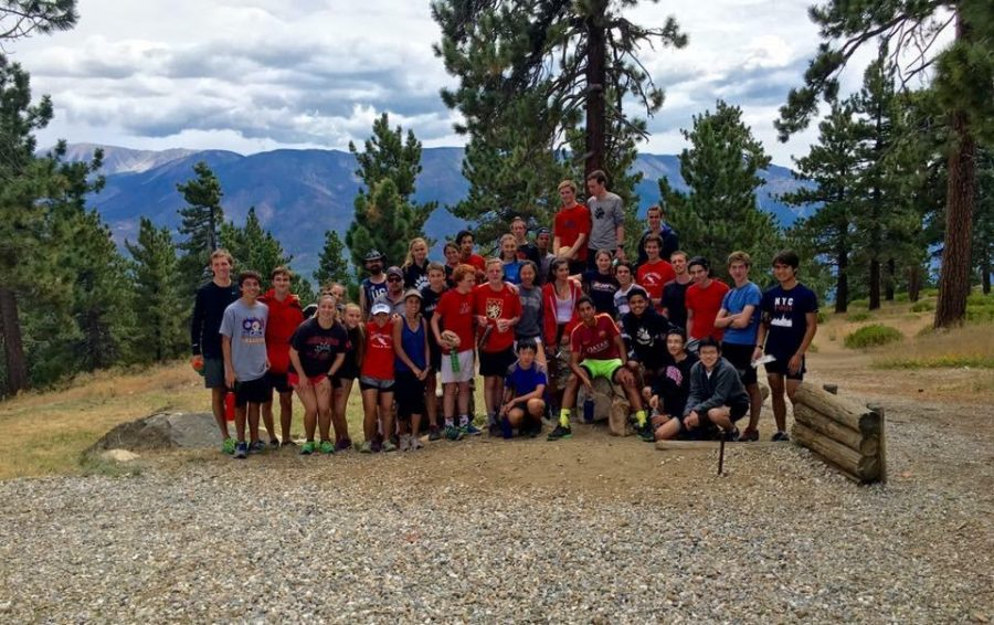 The Cross Country team poses for a photo after their week training at Big Bear. Photo courtesy of Justin Ciccone.