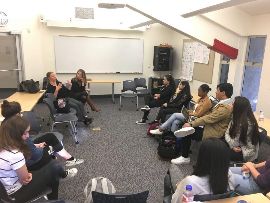 Students ask questions about how they can become further involved in activism at the Student Justice Roundtable. Credit: Sofia Heller/Chronicle