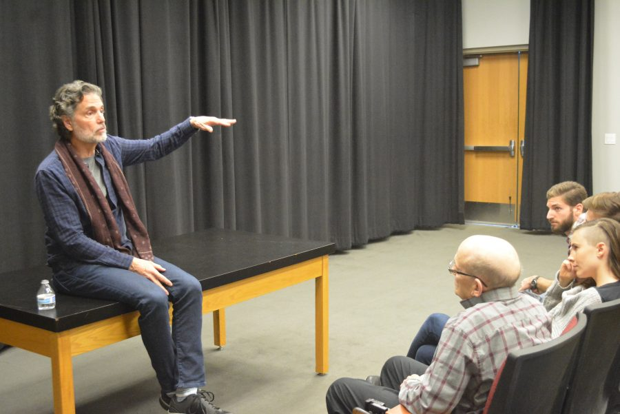 Chris Sarandon, who plays Prince Humperdinck in 'The Princess Bride,' discusses the film after it was screened at Cinema Sundays, hosted by Performing Arts Teacher Ted Walch. Credit: Danielle Spitz/Chronicle