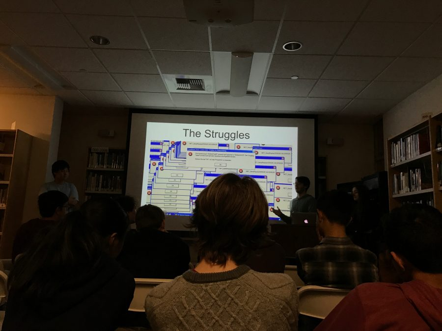 Students presented their ideas for their programs at the school's hackathon. Credit: Printed with permission of Emily Wesel '19
