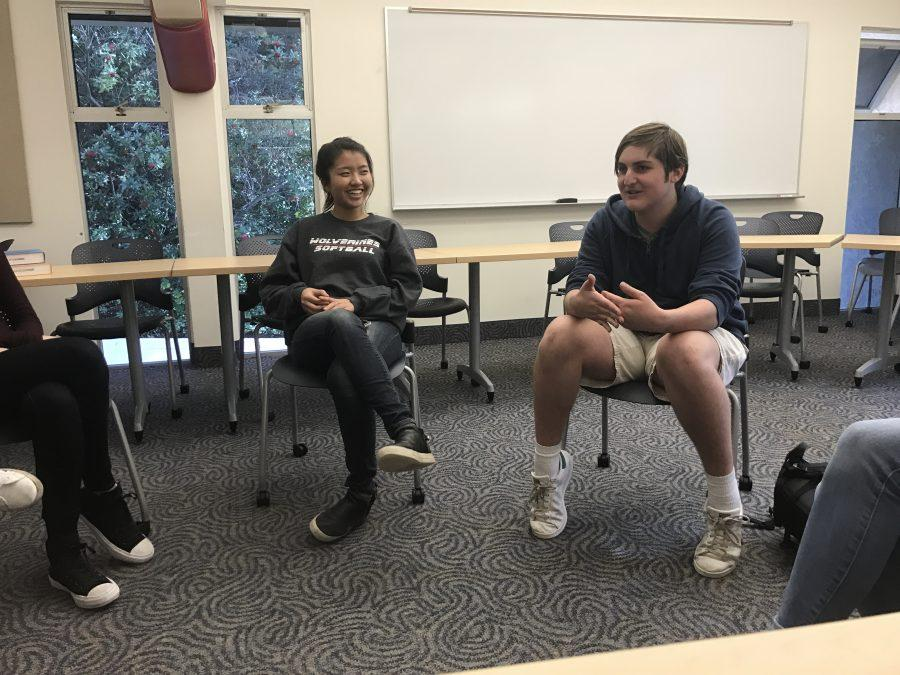 Students sat on the HW Works Internship Panel to offer their advice to their peers interested in seeking an internship this summer. Credit: Jenny Li/Chronicle
