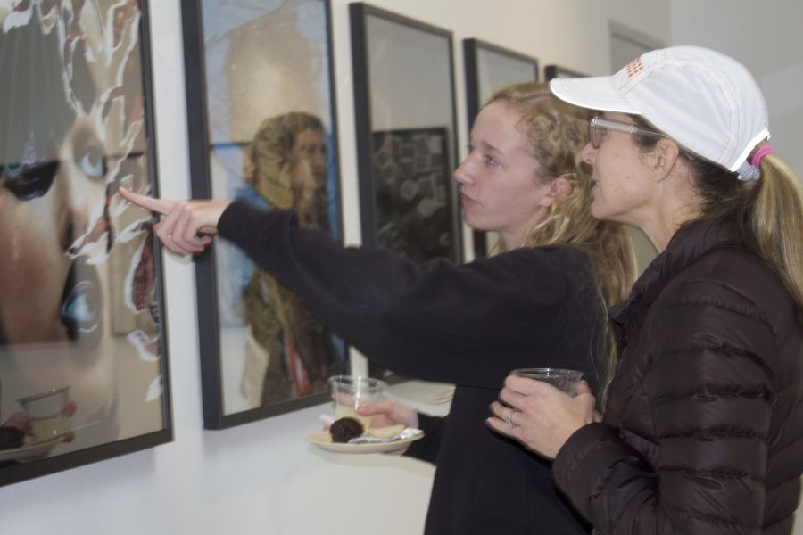 Photography I students shared their artwork with their parents at Monday's showcase. Credit: Sophie Haber/Chronicle