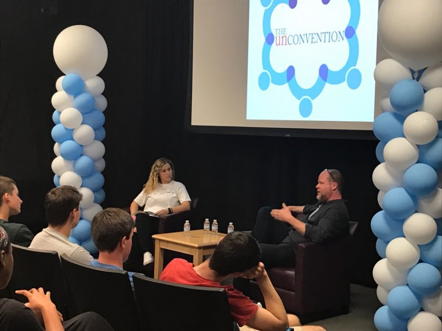 Joss Whedon speaks to student attendees of the Unconvention on March 18. Credit: Sophie Haber/Chronicle