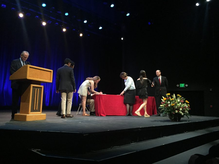 Students with grade point averages in the top 20 percent of their class are inducted into the National Cum Laude Society. Credit: Kaitlin Musante/Chronicle