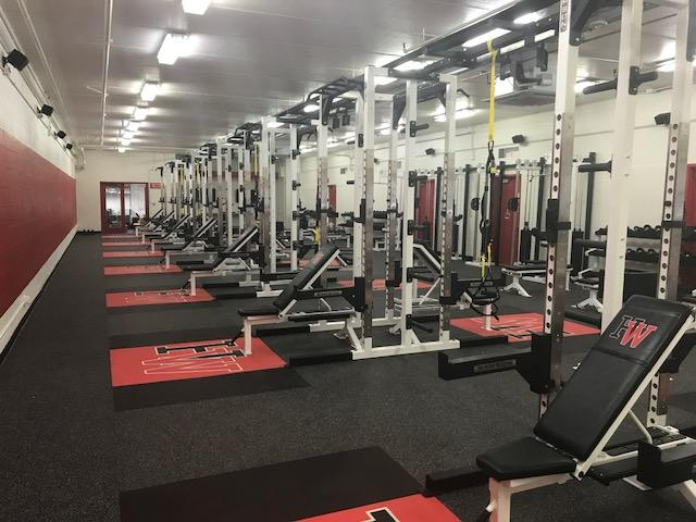 The+new+weight+room+under+Taper+Gym.++Printed+with+the+permission+of+Darlene+Bible.