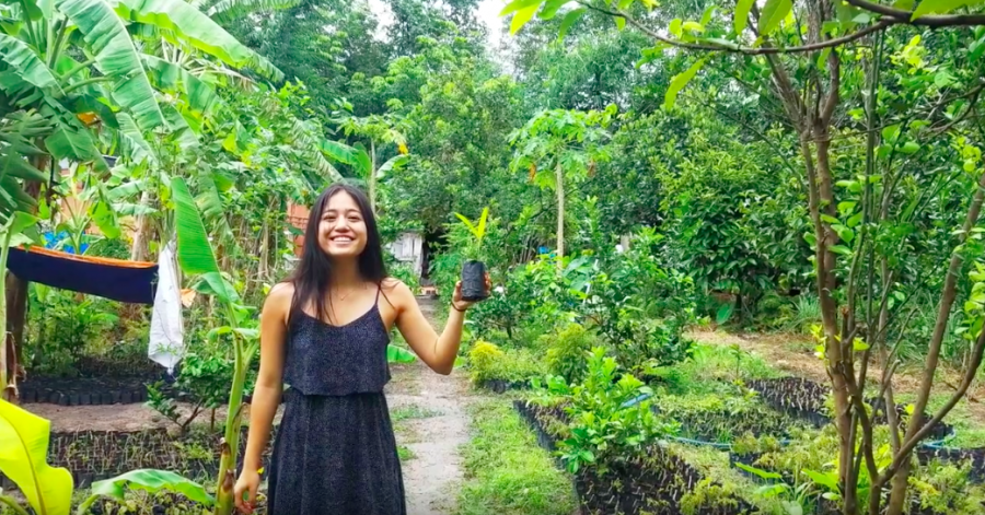 Alyse Tran '18 researches Vietnamese herbal medicine outside of Ho Chi Minh City. Printed with permission of Alyse Tran '18.
