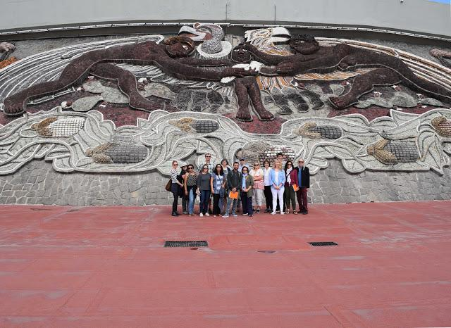 Faculty members pose together during one of their tours. Printed with permission of Gustavo Godoy.