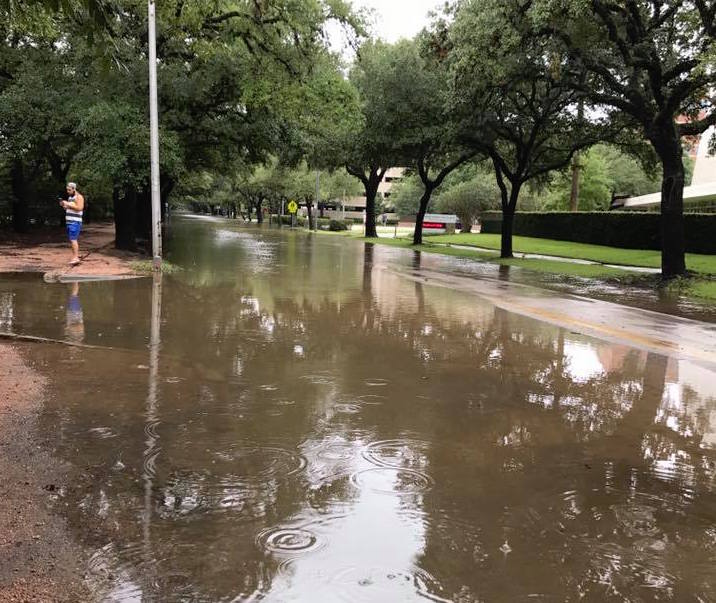 The hurricane flooded areas of Texas, including Rice University's campus. Credit: Claire Stevens '15