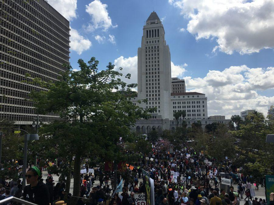 Students attended the March for Our Lives protest in Pershing Square March 24. Credit: Saba Nia/Chronicle
