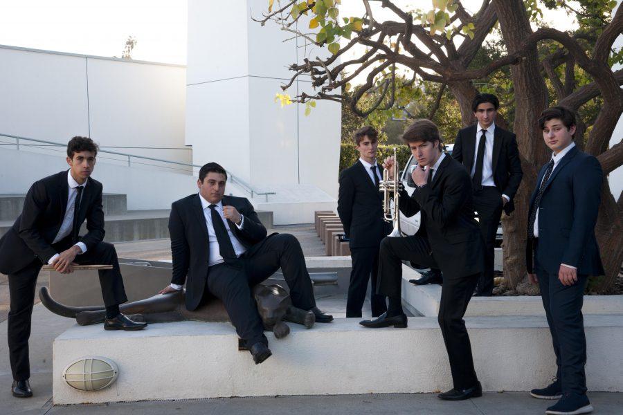 (Left to right) Jack Riley '19, Jordan Yadegar '19, Sam Baron '19, Ryan Wixen '19, Roshan Nayar '19 and Charlie Kogan '19. Photo Credit: Ryan Albert/Chronicle