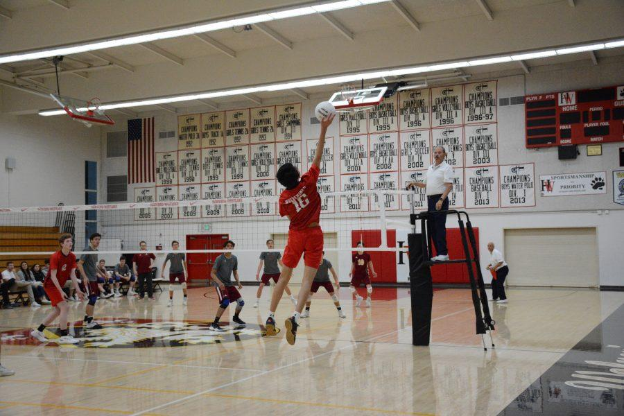 Anthony Navarro '18 and his teammates face off against Alemany on senior night May 1. Photo Credit: Jackie Greenburg/Chronicle