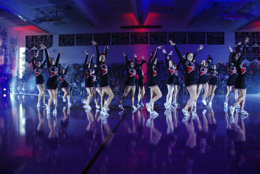The HW Spirit Team performs during the Fanatic Fest on Friday.