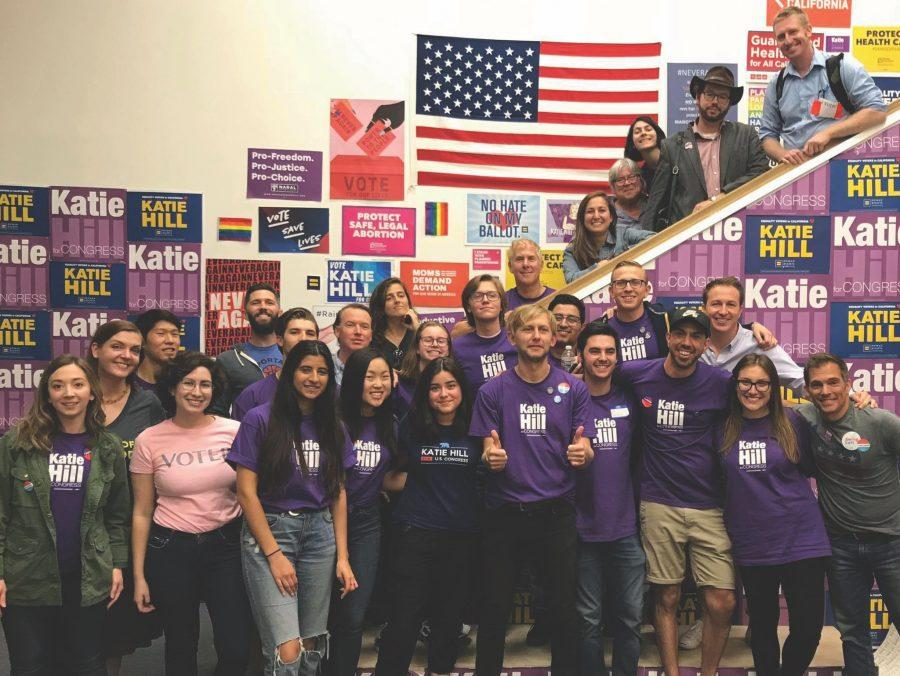 Volunteers for Katie Hill's campaign pose for a photo. Printed with permission of Tali Tufeld.