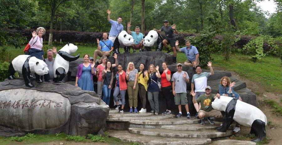 Recipients of the Faculty Summer Fellowship Program travelled to Shanghai to tour the panda reserves June 20. Although the primary objective of the trip was to learn about the history of Chinese cuisine, faculty members also toured major landmarks within each city.