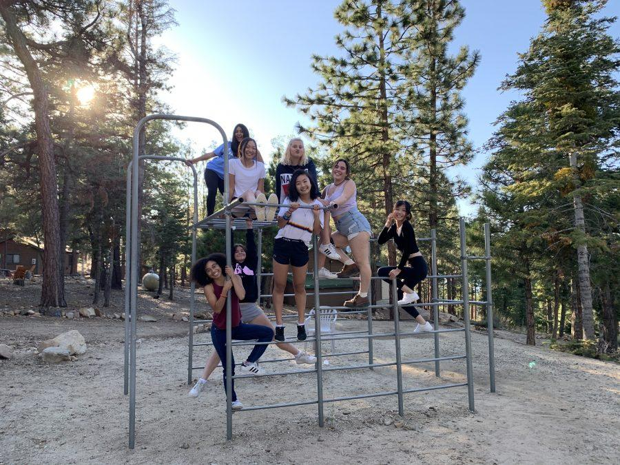 (Re)treated: Choral students enjoy their free time on a jungle gym at Alpine Meadows Retreat Center.   Printed with permission of Amaya Washington