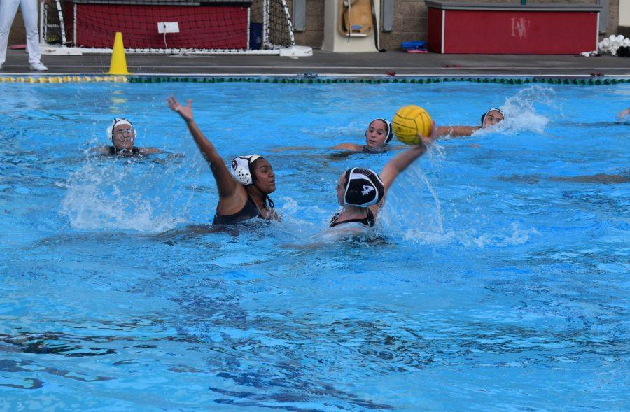 Savannah Shaub '22 takes a shot in the Wolverines' 23-1 victory over Alemany in the season opener on Dec. 2. Credit: Charlie Wang/Chronicle