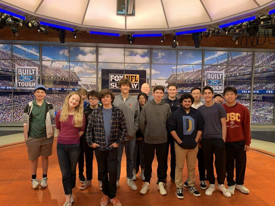 Broadcast journalism students tour the Fox Sports facility and learn about the field of broadcast journalism Feb. 19. Printed with permission of Max Tash