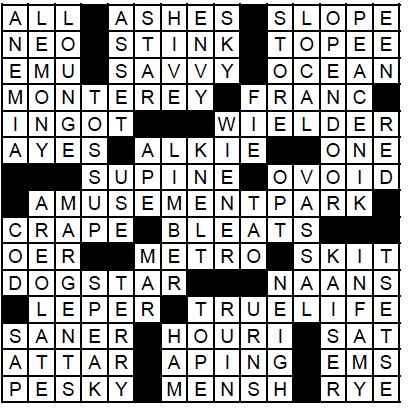 June Crossword