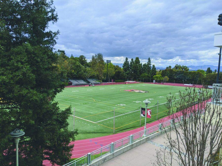 EMPTY FIELD: With the cancellation of spring sports, no teams or athletes have been allowed to utilize Ted Slavin Field or any other Harvard-Westlake facility. Spring sports such as Golf, Tennis, Lacrosse, Track and Field, Swimming, Baseball and Softball were affected by the cancellations.