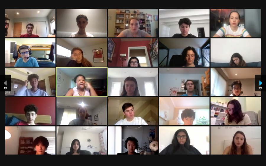 Students+discuss+Wes+Moore%27s+speech+in+breakout+rooms+divided+by+their+dean+group+during+Community+Flex+Time.%0ACredit%3A+Lucas+Cohen-D%27arbleoff
