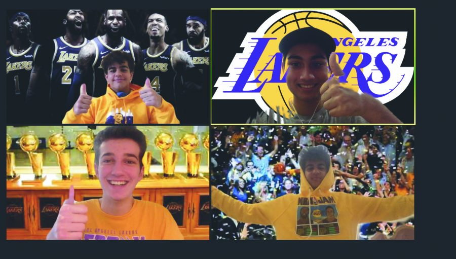 UNITED FRONT: Editor-in-chief Ethan Lachman '21 and Assistant Sports Editor Ryan Razmjoo '22 watched the Lakers in the Finals. Credit: Ethan Lachman/Chronicle