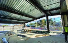 The construction at Sportsmen's Lodge Hotel located on the intersection of Coldwater Boulevard and Ventura Boulevard continues.
