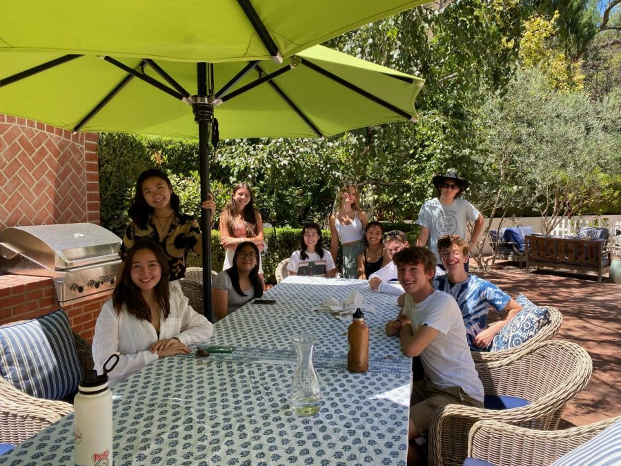 Members of Prefect Council discuss plans for the upcoming year during their August retreat.