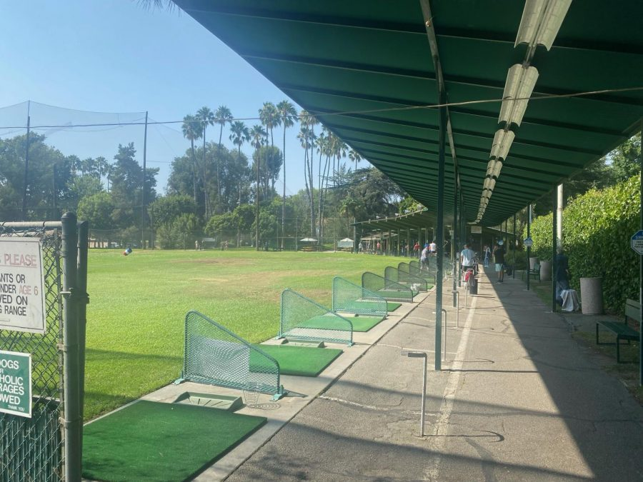 PARKS AND RECREATION: At the Weddington Golf & Tennis Property, Studio City residents use the driving range to practice golf on a summer's day. This property was purchased by the school and will be converted into the River Park athletic facility, which is scheduled to be completed in 2025.
