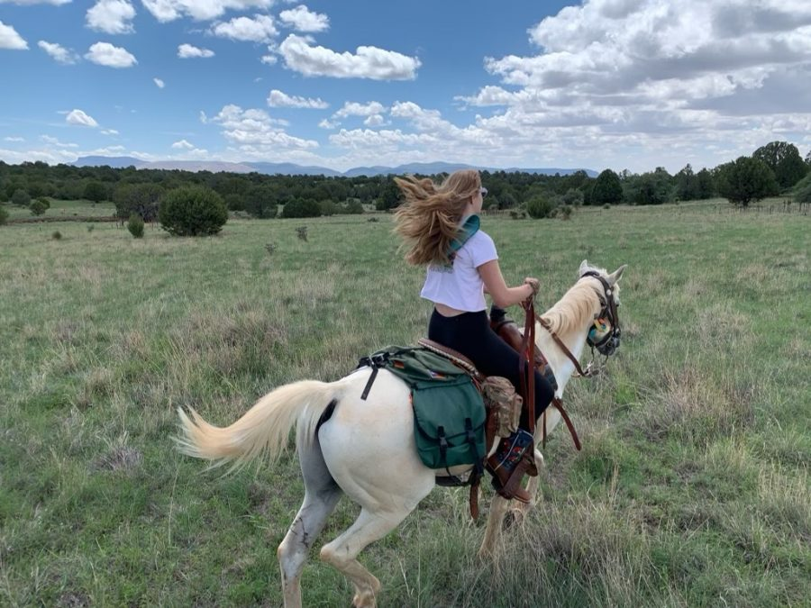 Lola+Cortez+%2722+rides+a+galloping+horse+during+her+Junior+Fellowship+in+Silver+City%2C+N.M.%2C+where+she+spent+the+summer+studying+the+role+of+Chiricahua+Apache+women.