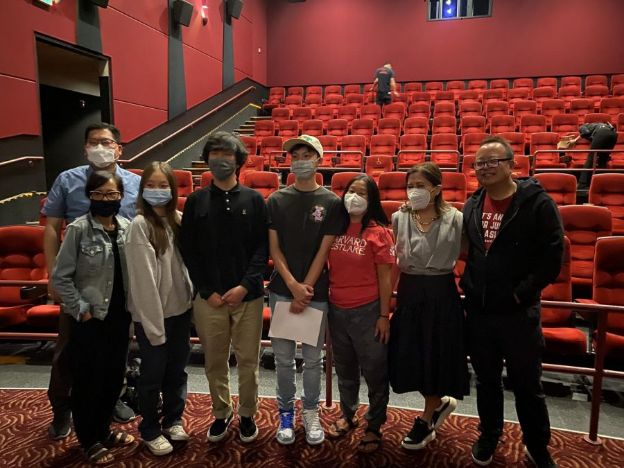Members of the Asian American Culture Club pose for a picture after watching Shang-Chi and discussing the importance of Asian-Americans in entertainment.